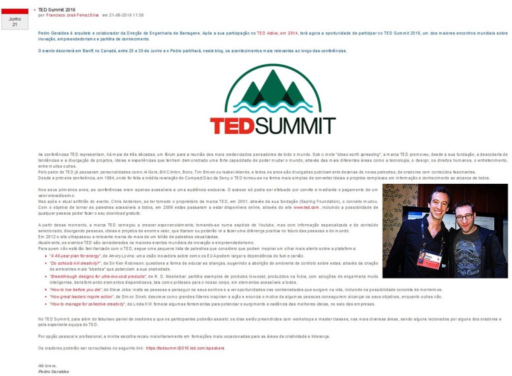 post TED Summit 2016 - blog news
