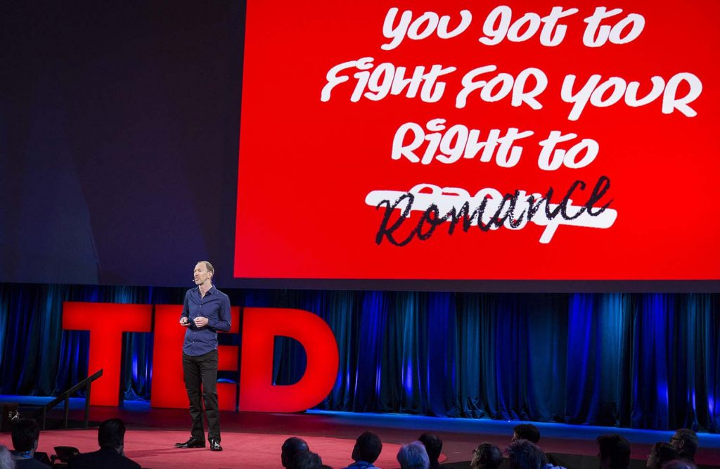 Speaker Tim Leberecht. Photo: Bret Hartman / TED